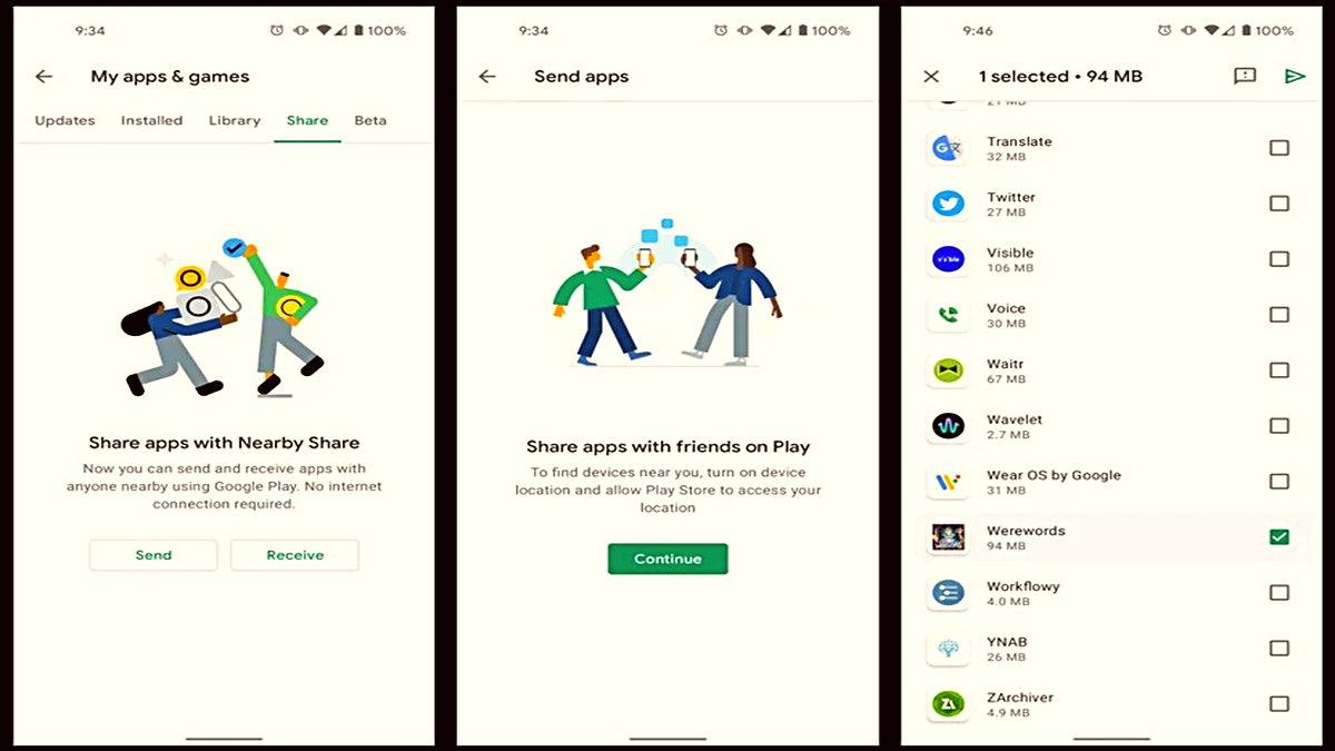 Google Play Store'a Saniyeler İçerisinde 'Uygulama Paylaşma' Özelliği Geldi