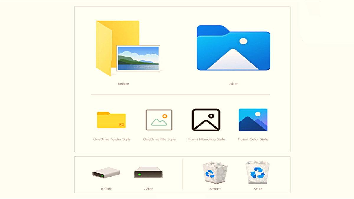 Microsoft, Son Güncelleme ile Windows 10'daki Simgeleri Değiştiriyor: İşte Yeni Tasarımlar