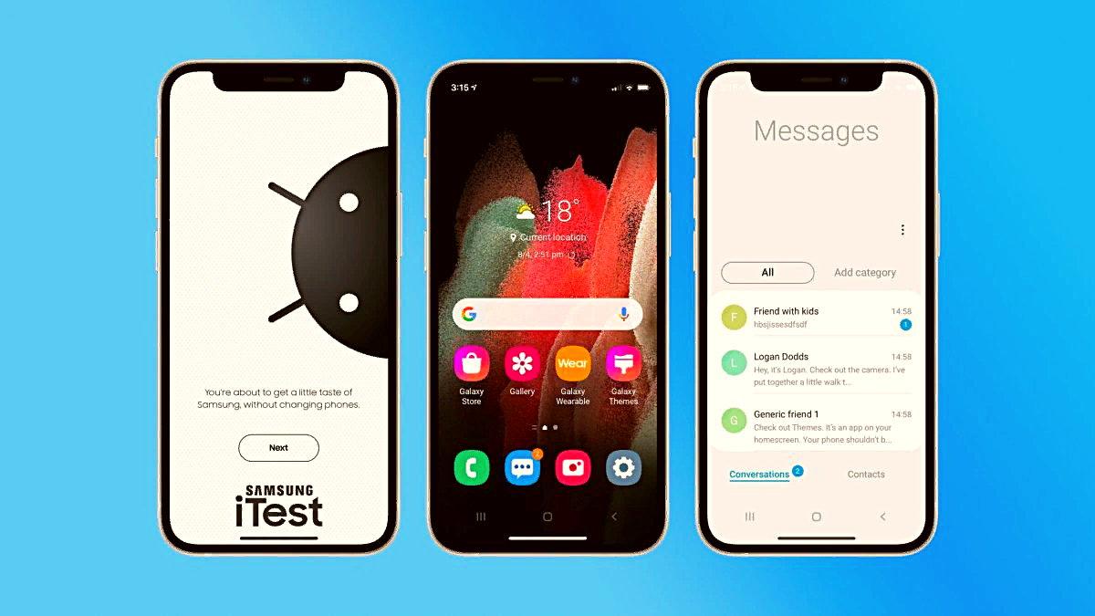 Güney Kore menşeili teknoloji şirketi Samsung, Apple kullanıcılarını kendine çekmek için yeni bir uygulama başlattı. Şirket, iTest uygulaması ile iPhone'dan Galaxy cihazları test etmeye olanak tanıyor.