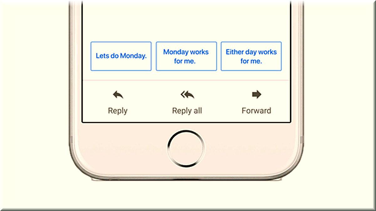 2017 yılında, mesajlarınıza hızlı yanıtlar önererek size zaman kazandırmak için Gmail'de Akıllı Yanıt'ı kullanıma sunduk.